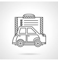 Buying a car flat line icon vector image