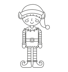 christmas elf character isolated icon vector image