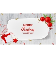 Christmas or new year decoration banner vector