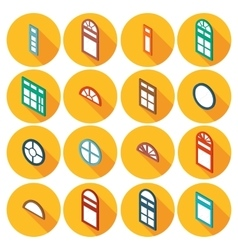color isometric set of flat icons window vector image vector image