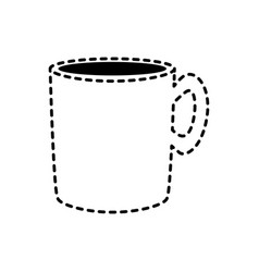 Cup sticker vector