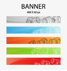 digital camera banner vector image vector image