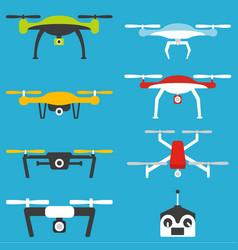Drones set vector