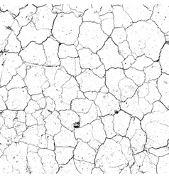Dry Cracked Texture vector image