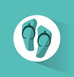 Flip flop beach accesory vector