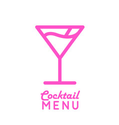 Icon of cocktail cosmopolitan vector