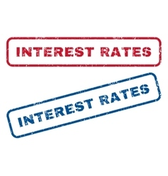 Interest rates rubber stamps vector