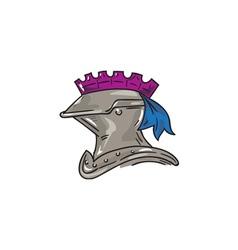 Knight helmet drawing vector