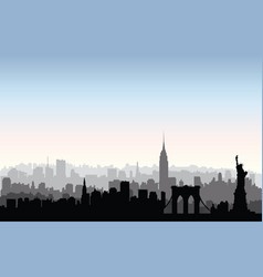 New york city buildings silhouette american urban vector