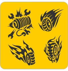 Off-Road symbols - set vector image