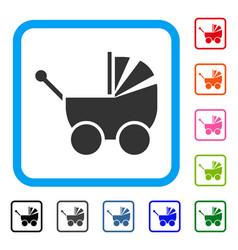 pram framed icon vector image