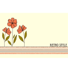 Retro style design vector