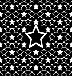 seamless white star pattern design background vector image vector image