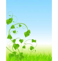 spring vine vector image