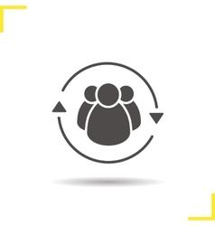 Team management icon vector
