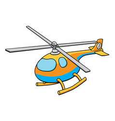toy helicopter vector image