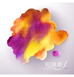Watercolor stain vector image vector image