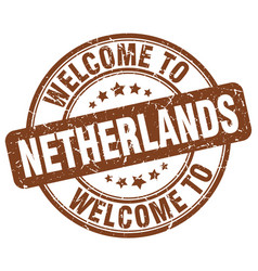 welcome to netherlands vector image vector image