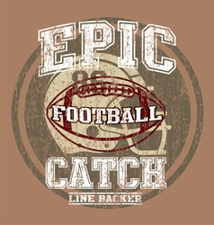 EPIC AMERICAN FOOTBALL vector image