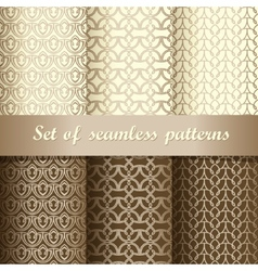 Set of seamless patterns 1 vector image