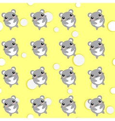 Mouse seamless background vector