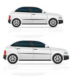 car hatchback 03 vector image