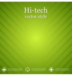 Abstract green striped background vector