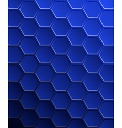 hexagons vector image