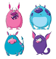 Furry monsters vector