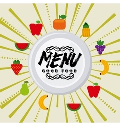 Organic food menu vector