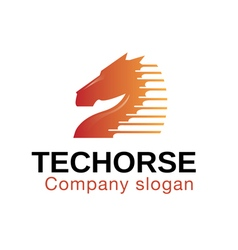 Techorse design vector
