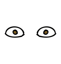 Comic cartoon staring eyes vector