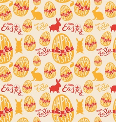 Easter egg with lettering seamless pattern vector