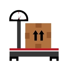 Balance and box graphic vector
