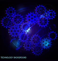 abstract futuristic digital technology background vector image