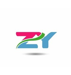 Alphabet Z and Y letter logo vector image