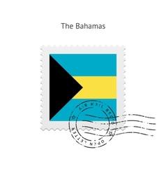 Bahamas flag postage stamp vector