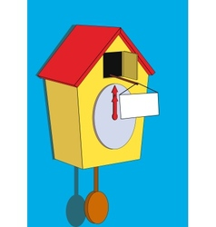 cuckoo clock with a sign vector image vector image