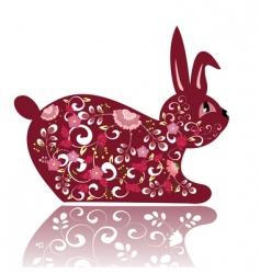flower bunny vector image