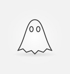Ghost outline minimal icon vector