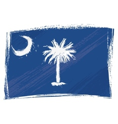 Grunge South Carolina flag vector image