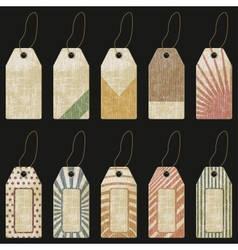 Grunge tags - vector