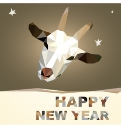 Happy New Year 2015 goat postcard vector image vector image