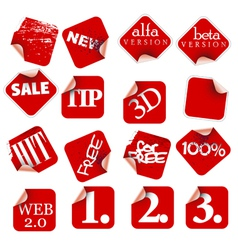 labels badges and stickers vector image vector image