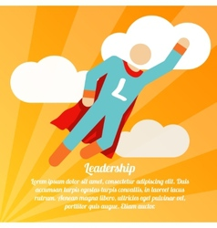 Leadership superhero poster vector