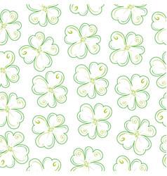 lucky clover field vector image vector image