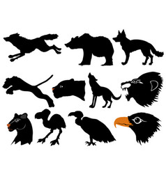 Predators of wildlife vector