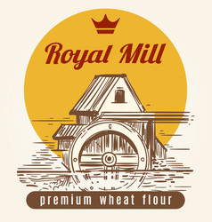 royal mill banner design vector image vector image
