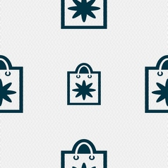 shopping bag icon sign Seamless pattern with vector image vector image