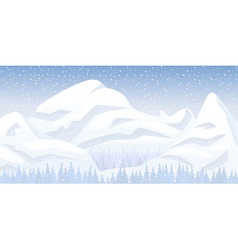 Snow mountain landscape vector